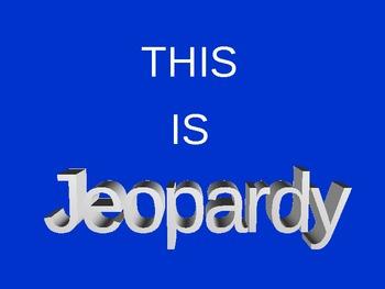 Cumulative Math Jeopardy Review Game