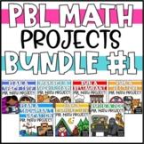 Digital & Printable PBL Math Enrichment Projects - Bundle #1