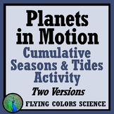 NGSS Earth's Tilt Seasons Project Activity - Tides Rotation Revolution MS-ESS1-1