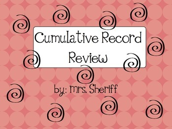 Cumulative Record Review Form - {EDITABLE}