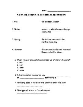Cumulative Weather Assessment