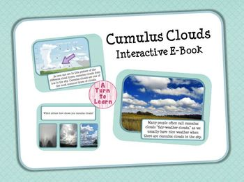 Cumulus Clouds Interactive E-Book and Games for Smartboard