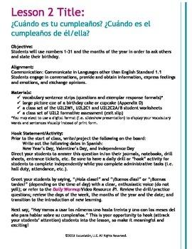 ¿Cuándo es tu cumpleaños? Complete Spanish LP, Worksheets & Assessment