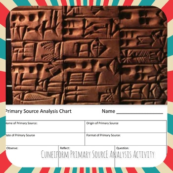 Cuneiform Primary Source Analysis Activity