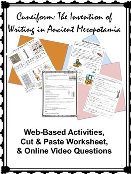 Cuneiform: The Invention of Writing in Ancient Mesopotamia Activity Bundle