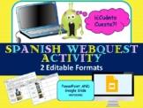 ¿Cuánto Cuesta?-EDITABLE  Webquest activity Spanish Number