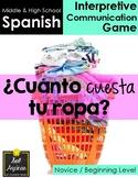 Cuánto cuesta tu ropa - Spanish Clothing Unit Game