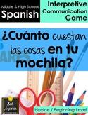 Cuánto cuestan las cosas en tu mochila - Spanish School Su