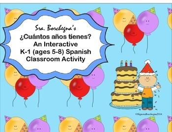 Cuántos años tienes- An Interactive K-1 Spanish Activity to Practice Age