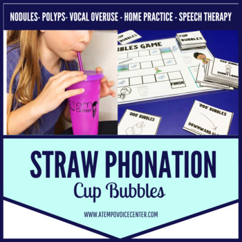 Voice Therapy Cup Bubbles for Speech Therapy