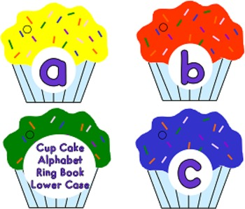 Cup Cake Alphabet Ring Books