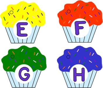 Cup Cake Alphabet Ring Books