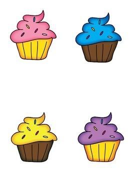 Cup Cake Matching File Folder Game