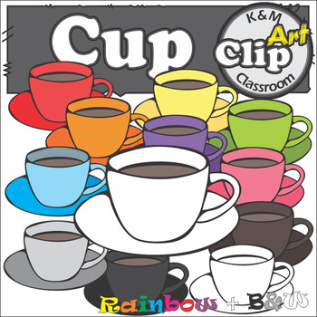 Cup Clip Art in Rainbow Colors