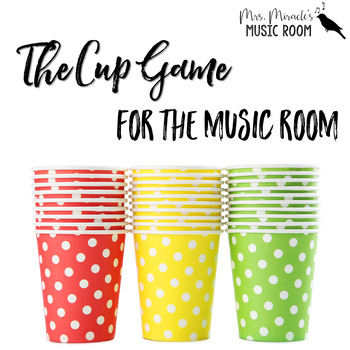 Cup Game Freebie for your Music Room