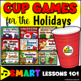 Cup Games for the Holidays! Halloween Christmas Valentines Easter St. Patrick's