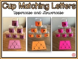 Cup Matching Letters- Uppercase and Lowercase Letters