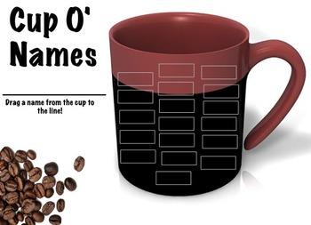 Cup O' Names Flipchart Random Name Picker