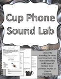Cup Phone Sound Waves Lab Hands-On Experiment