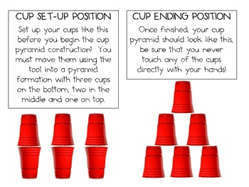 Cup Pyramid: Engineering Challenge Project ~ Great STEM Activity!
