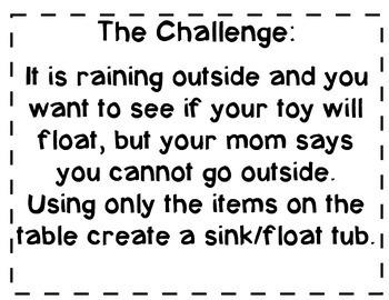 Cup Sink or Float STEM Unit