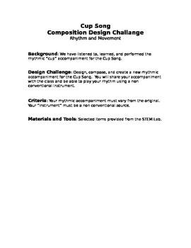 Cup Song Design Brief