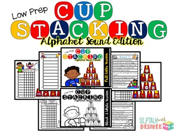 Cup Stacking- Alphabet Sound Edition