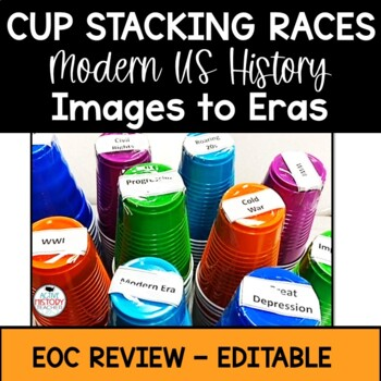 Cup Staking Races - US History EOC Review Game