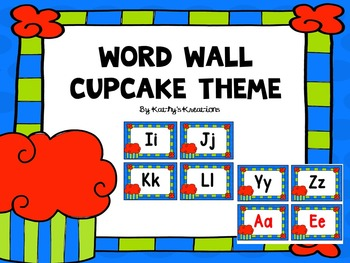 Cupcake Theme Word Wall