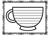 Cup Writing Template