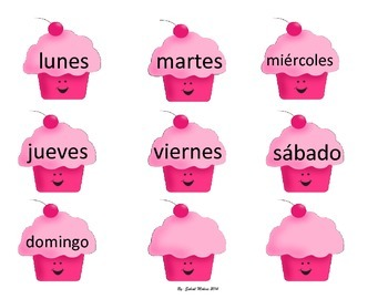 Cup cakes calendar numbers