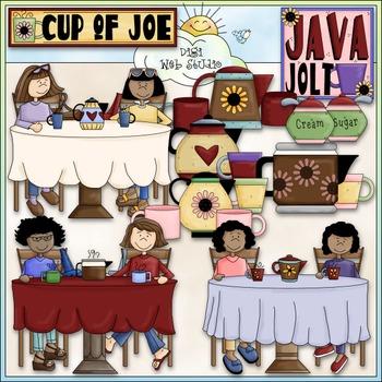 Cup of Joe Clip Art - Coffee Clip Art - CU Clip Art & B&W