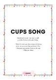 Cup song worksheet