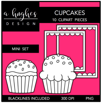 Cupakes Mini Clipart Set {A Hughes Design}