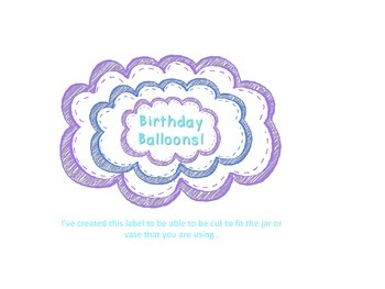 Birthday Balloons Cupcakes and Polka Dot Themed