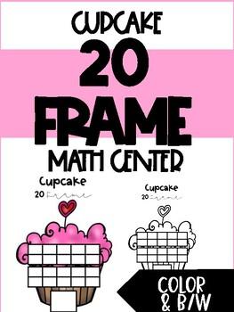 Cupcake 20 Frame Center - February Math Center