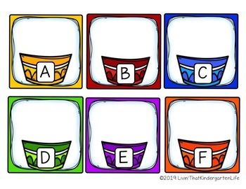 Cupcake ABC Alphabet Letter Match Game for Uppercase and Lowercase