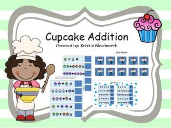 Cupcake Addition math center