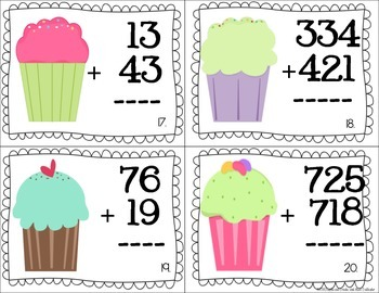 2 & 3 Digit Addition- With and Without Regrouping