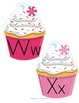 Cupcake Theme Alphabet Upper and Lower Case Centers and Printables