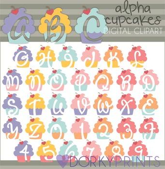 Cupcake Alphabet Clip Art