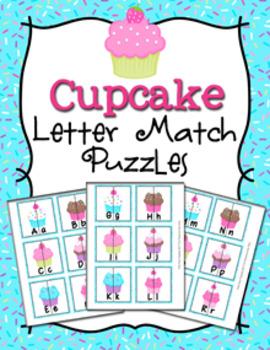 Cupcake Alphabet Letter Match Puzzles