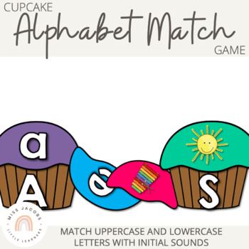 Cupcake Alphabet Match Game