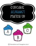 Cupcake Alphabet Match Up File Folder Game