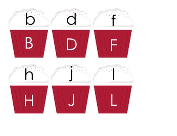 Cupcake Alphabet Match for Word Work or Centers