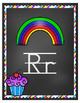 Cupcake Alphabet Poster (Chalkboard Classroom Decor)