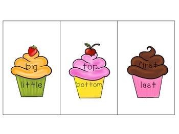 Speech Therapy: Cupcake Antonyms