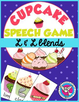 Cupcake Articulation: /l/ and /l/ blends card game
