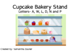 Cupcake Bakery Stand Braille File Folder Game