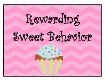 Cupcake Behavior Chart